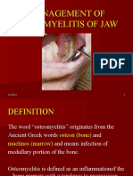 MANAGEMENT OF OSTEOMYELITIS OF JAW