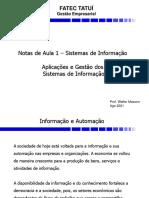 Notas Aula 1 - Aplicações e Gestão Dos Sistemas de Informação