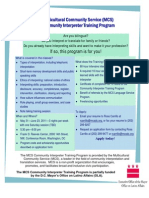 Community Interpreter Training Program 2011