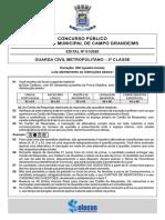 PROVA GCM-CAMPO GRANDE-MS