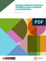 Fascículo U2 - Indagación y alfabetización científica y tecnológica