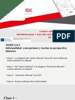 """La categoría del """"sector informal"""" de la OIT como referencia inicial opiniones en disputa (1)"""