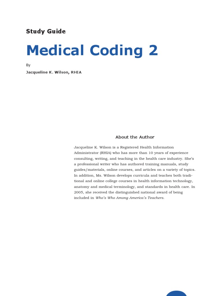 Medical Coding 2 Study Guide | International Statistical