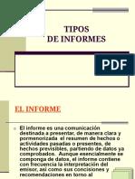 TIPOS DE INFORMES