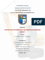 ESTUDIO DE LA MECÁNICA DE UNA MÁQUINA EXCAVADORA ORUGA