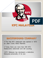kfc s marketing plan in malaysia Kfc marketing plan  mcdonald in malaysia is actually growing in a faster pace as compared to kfc malaysiaas today's economic environment there is a huge.