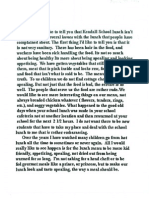 Letter from fifth-grade students about hot lunch