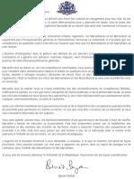 Lettre de Benoît Payan à Emmanuel Macron