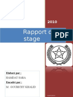 rapport de stage sara hamdat