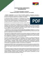 Convocatoria Seregnista Progresistas Documento