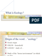 What is Ecology (1)