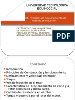 PRINCIPIO DE FUNCIONAMIENTO  DEL MOTOR DE INDUCCION.