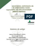 Perfil socioeconômico, nutricional e de saúde de