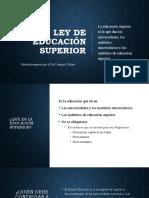Resumen Ley Ed Superior