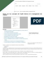 Cours Sur Les Concepts de l'Audit Interne Et Le Management Des Risques