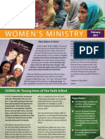 Women's Ministry Newsletter, Feb 2011, South Africa Open Doors - English