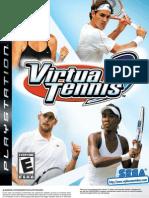 Virtua Tennis 3 - Manual - PS3