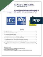 Reuniões Plenárias Do IECEx Em 2021