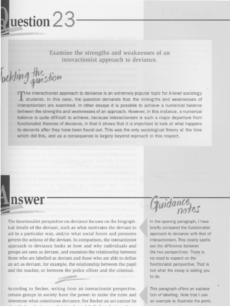 Essay on deviance