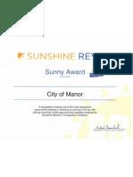Sunshine Review Sunny Award