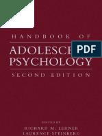 - Handbook of Adolescent Psychology