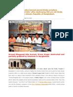 Mohammedan fanatics burned sacred Hindu scripture Srimad Bhagabad Gita
