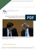 Guedes e Campos Neto Se Desmoralizam. BC é Independente de Quem Ou Do Quê_ - 05-10-2021 - UOL Notícias