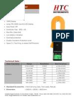 Digital Clamp Earth Tester HTC CE 8200