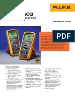 Digital Insulation Testers Fluke 1507 1503