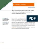 Revisão Narrativa Sobre Práticas de Gestão Ambiental Revista Tecnologia e Soc.