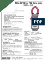 Digital Clamp Meter AC-DC-Kusum Meco 9999
