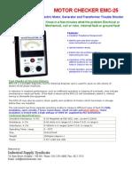 EMC 25 Analog Electric Motor Checker Catalogue