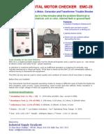 EMC 28 Digital Electric Motor Checker Catalogue