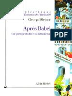 Après Babel Une Poétique Du Dire Et de La Traduction by Steiner George (Z-lib.org).Epub