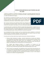 TÉCNICAS DE CONDUCCIÓN DEFENSIVA
