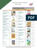 PNL - Lista de livros 1ºciclo 2010-2011