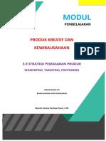 Modul Bahan Ajar 3.9 Strategi Pemasaran Produk STP