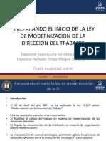 MODERNIZACION DE LA DIRECCION DEL TRABAJO