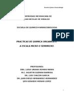 Manual de practicas de Organica II