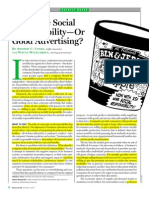CSR o buena publicidad