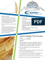 Sanjay Kumar Recipe Card Coeliac Awareness week 2011