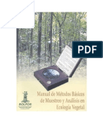 Manual métodos vegetación