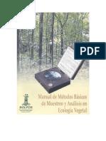 Manual métodos vegetación