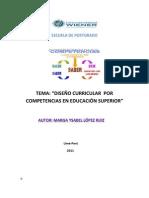 DISEÑO CURRICULAR POR COMPETENCIAS EN EDUCACION SUPERIOR