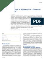 Histologie et physiologie de l'endomètre normal