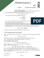 Centrale Supelec Pc 2014 Maths 1 Epreuve