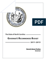 Budget 2011 13 Web - Proposal by Governor Bev Perdue