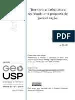Territorio e cafeicultura no Brasil - Samuel FREDERICO