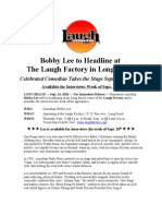 Bobby Lee 2010 Press Release