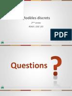 INSEA - Modèles Discrets - Ch II